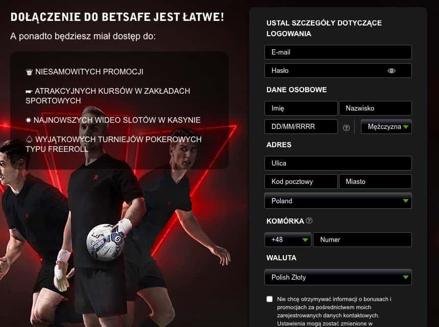 Betsafe rejestracja pl