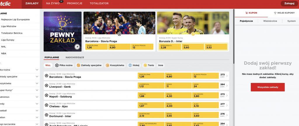 betclic.pl strona internetowa dla polaków