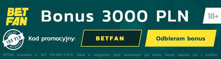 legalny bukmacher Betfan kod promocyjny