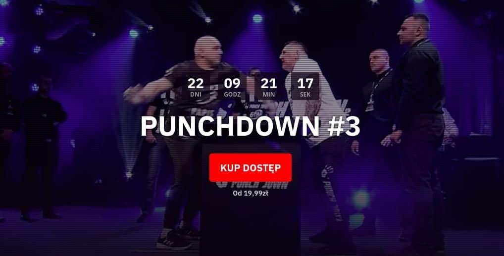 Punchdown 3 transmisja online PPV